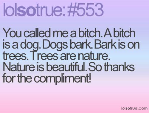 Bark like a dog bitch