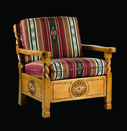Santa Fe Easy Chair: Southwest Furniture, Santa Fe Style: Southwest Spanish Craftsmen