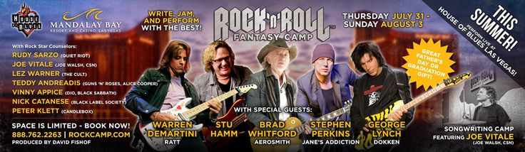 Music News - Rock and Roll Fantasy Camp: Brad Whitford of Aerosmith to Lead Summer Camp!