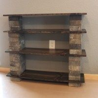 DIY: Easy Brick & Wood Shelf