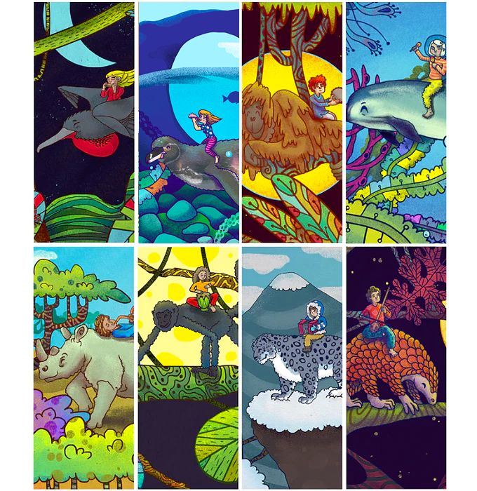 An illustrated book of critically endangered animals for children and young adults!