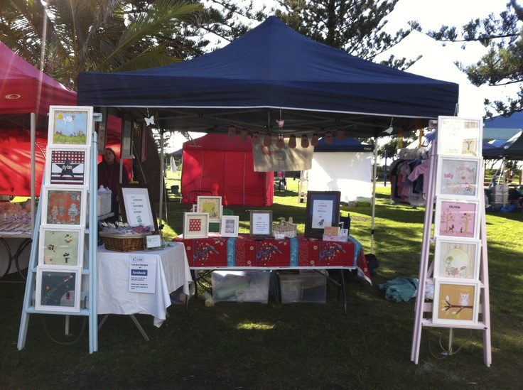 My stall at the Broadbeach Arts and Craft market