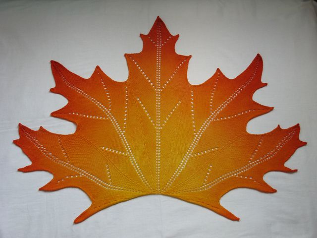 Knitting Pattern For A Maple Leaf :