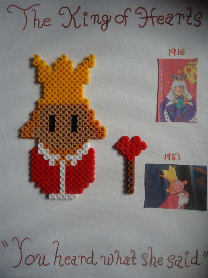 The King of Hearts Alice in Wonderland perler beads by PerlerHime