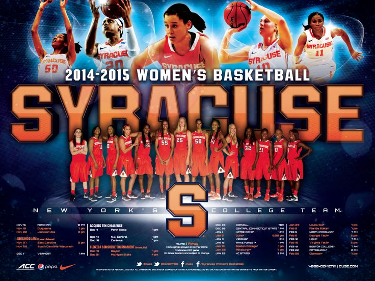 Syracuse women 39 s basketball poster 2014 2015 old hat for Plan and print syracuse