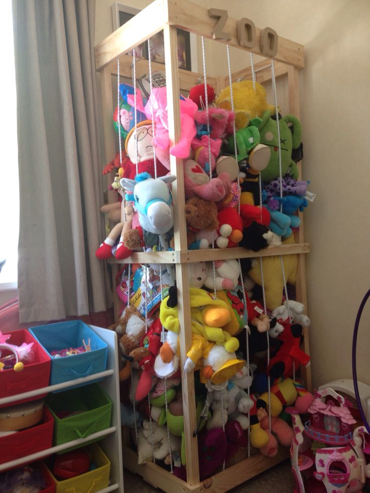 Cool way to store all those soft toys - my dad whipped it up in less then a day. I thought it would be quite cheap to make but the bungy cord ended up being more expensive then the frame! Oh well, it looks fantastic. Measures 170cm height by 35cm wide - so perfect to fit into the corner spaces and move around the house. When the kids get older I'll probably use it to store pillows or something....