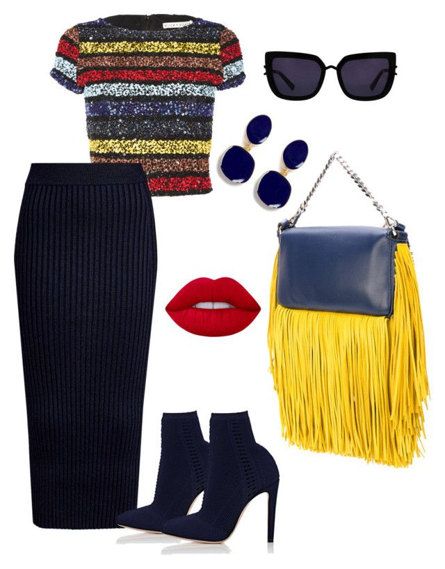 """""""Untitled #401"""" by stylistrr on Polyvore featuring Alice + Olivia, Kenzo, Gianvito Rossi, Lime Crime, Kenneth Jay Lane, Kendall + Kylie and Fendi"""