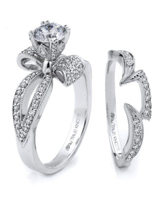 Bow-tied Engagement Ring | True Knot K3068 | www.theknot.com