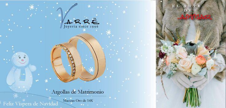 El Arte de Ammar ♥   Argollas de Matrimonio Oro & Platino / Anillos de Compromiso Platino & Diamante... Feliz Víspera de Navidad... #navidad #momentos #viernes #tbt #joyería #diciembre #amor