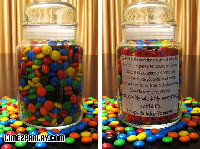 Personalized M&M;'s Jar -Madison