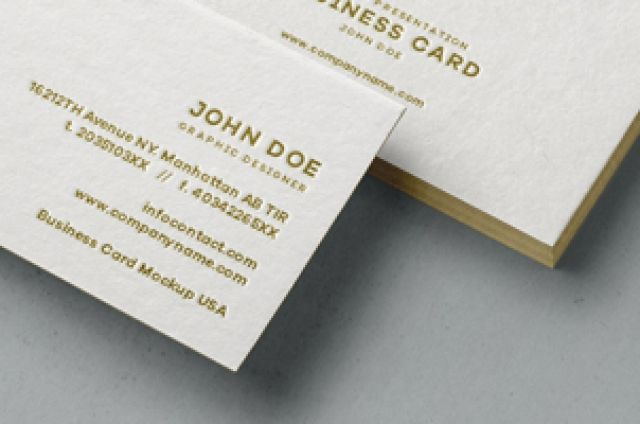 This is a subtle and elegant business card mockup to showcase your front and back designs.Easily add your graphics with our...