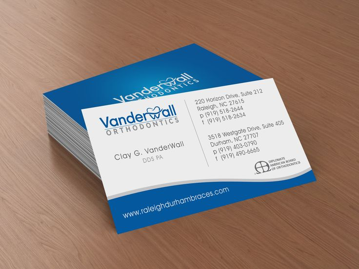 9 best business cards images on pinterest business card design business card design vanderwall orthodontics raleigh nc by redwood productions design print reheart Gallery