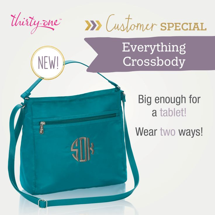 Thirty-One's Everything Crossbody - 50% off in August!