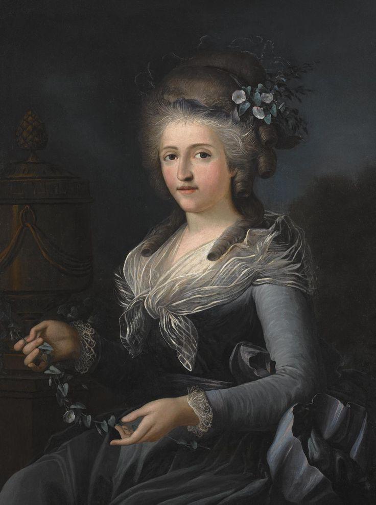 Piedmontese school, Portrait of a seated lady, circa 1780