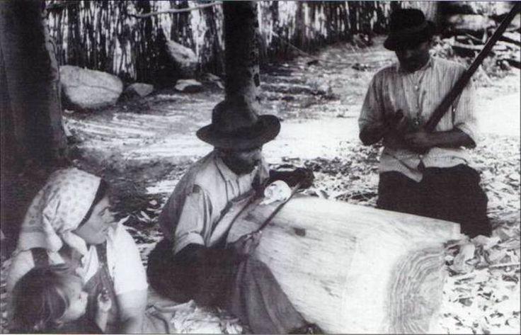 Teknővájás Poroszló 1965