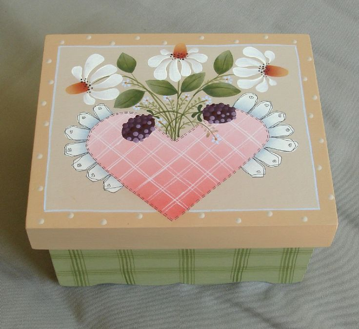 Lovely pattern by Shara Reiner painted by me on a papier mache' box