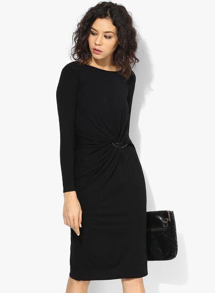 Black Bar Detail Dress