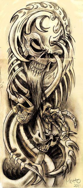 biomech skulls | Biomech Skull by Franknarf