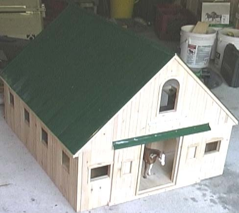 how to build a breyer horse barn