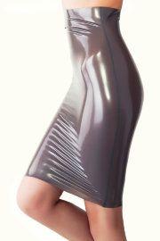 Латексная юбка с высокой талией Джеки