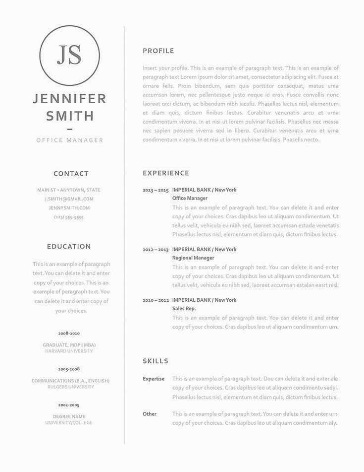 Resume Template 120060 Resumes That Stand Out Resume Examples