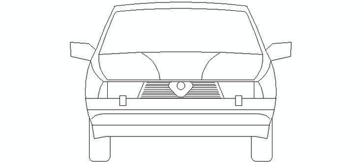 Coche Alfa Romeo en alzado frontal