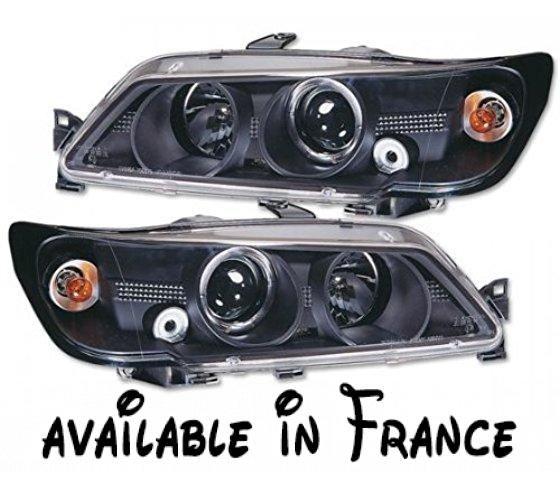 Phares D'Échange Frontales FK FKfs8080. Phares pour Peugeot 306 An: 93-96 noir; année: 1993 à 1996. couleur: noir. Avec E. marque. avec des clignotants intégrés et anneau lumineux #Automotive Parts and Accessories #AUTO_PART