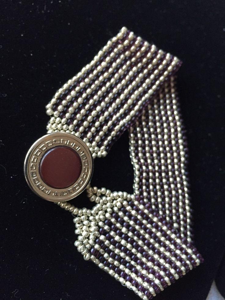 Beaded cuff bracelet by jaime by FunkyandfunByJaime on Etsy