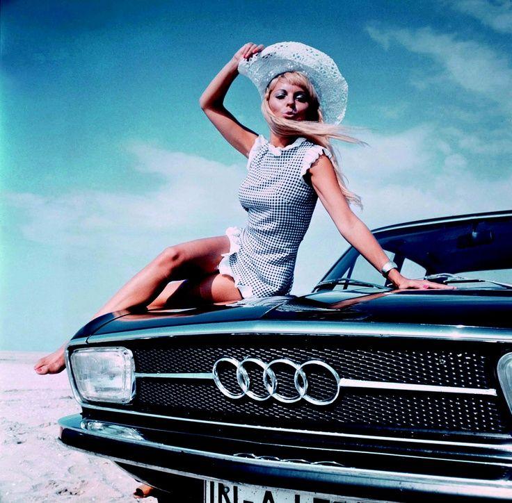 #Audi #1970s #beautiful #woman #vintage #classic #car