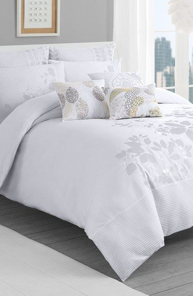 Free shipping and returns on KAS Designs 'Eva' Duvet Cover at Nordstrom.com. A pintucked stripe borders the bottom of a lovely cotton duvet cover embellished with gorgeous floral embroidery.