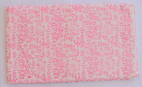 2.5 Yard Decorative Hand Block Print Indian Cotton Voile Fabric Craft Sewing  #Handmade
