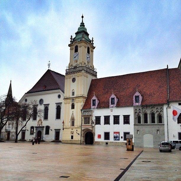 Hlavné námestie | Main Square Plaza in Bratislava, Slovakia.