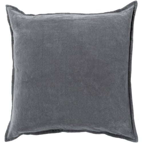 Surya CV-003 Square Indoor Decorative Pillow with Down or Polyester Filling from the Cotton Velvet Collection (