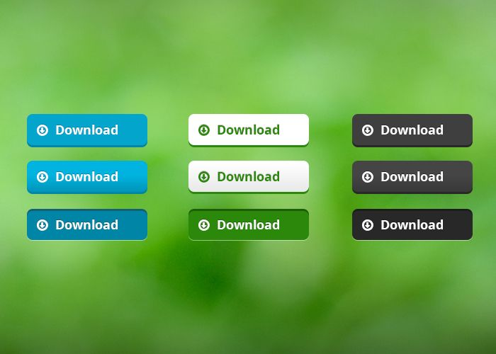 Free Simple Download Buttons PSD