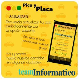 Actualización manual de la App Pico y Placa - Restricción Vehicular