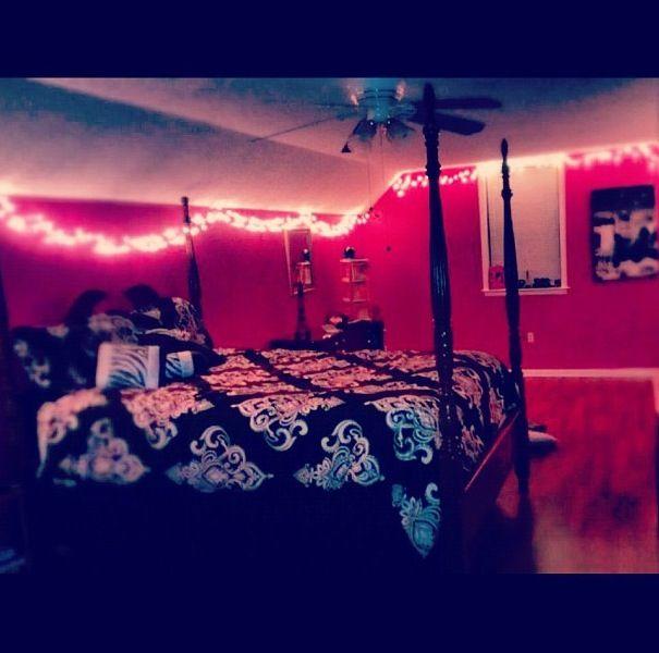 lighting for teenage bedroom. teenage girls roompink walls and christmas lights lighting for bedroom a