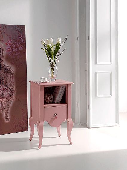 Muebles Portobellostreet.es: Mesita Auxiliar Carlotta - Mesas de Noche Vintage - Muebles de Estilo Vintage