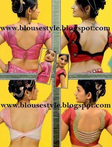 latest All INDIA fashion back neck blouse