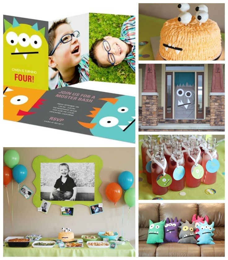 Kids Monster Birthday Party Ideas