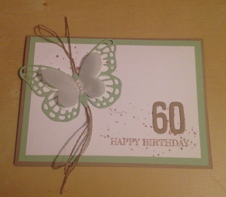 Stampin up Geburtstag Karte 60