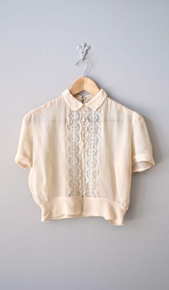 Crème kleurige blouse
