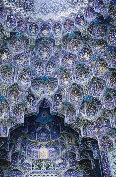 Världen innanför. Muqarnas! The Imam Mosque in Isfahan, Iran.