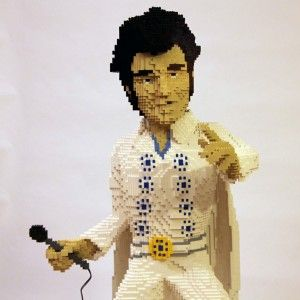 LEGO Elvis has left the building: Happy Birthday, Building, Nathan Sawaya, Art Sculpture, Brick Artists, Lego Artworks, Lego Elvis, Lego Sawaya Elvis, Elvis Presley