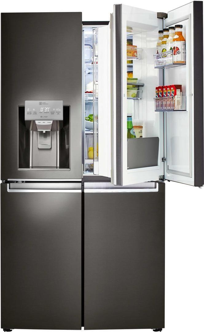 Lg Black Stainless Steel 10 Lg 4 Door Refrigerator French Door Refrigerators Refrigerator Lg