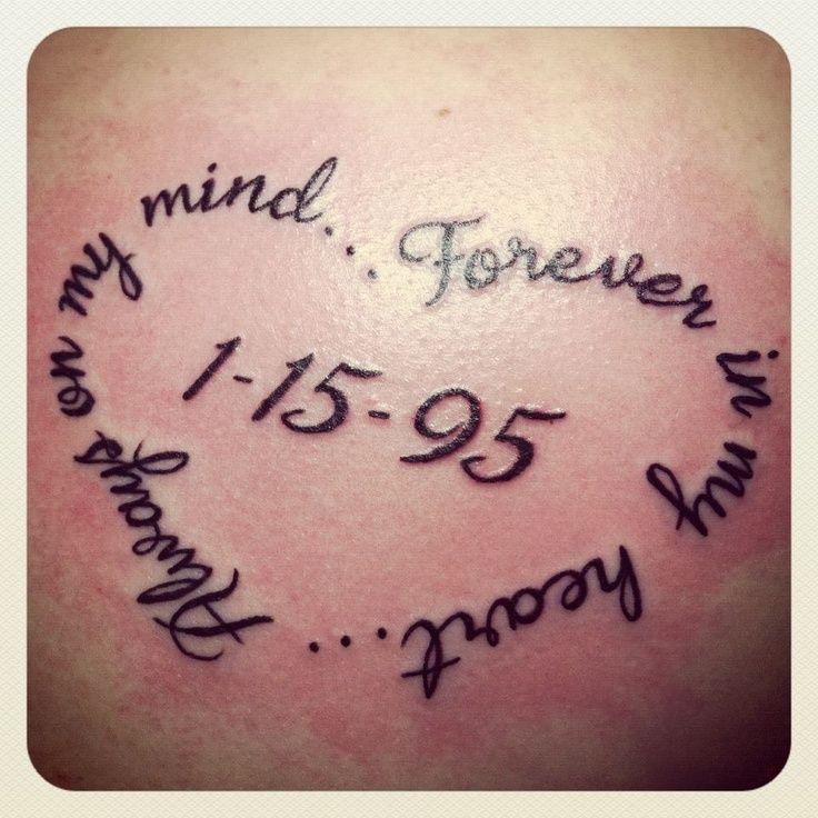 Beautiful Memorial Tattoos Design on back