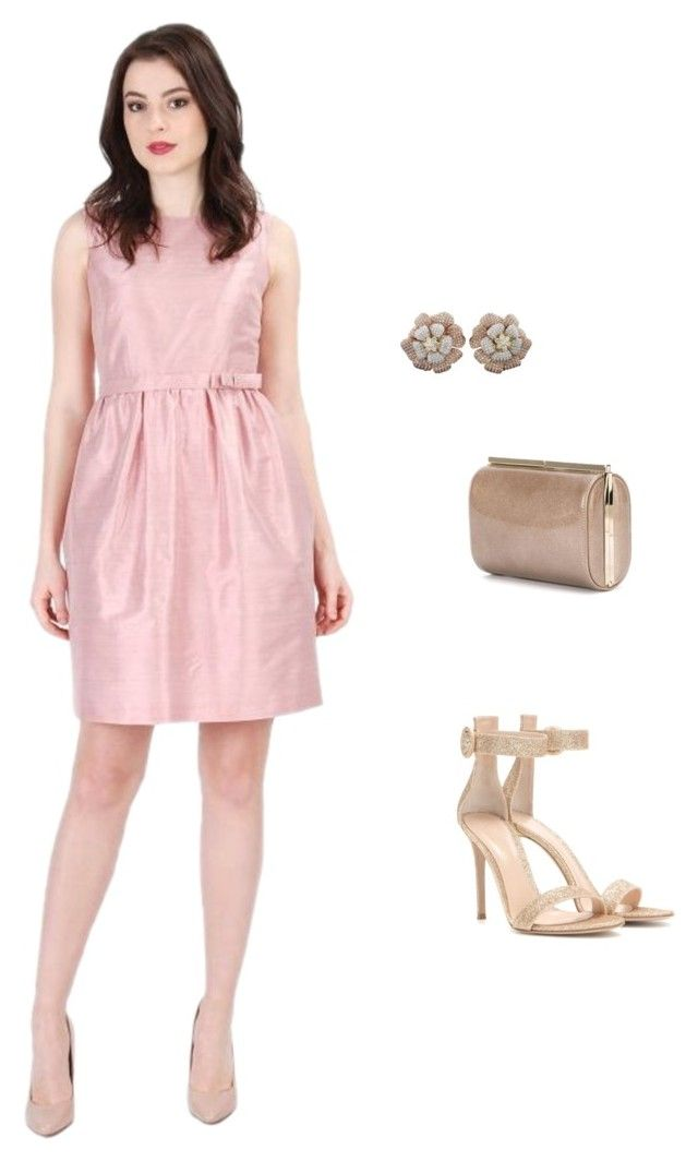 """""""Dusty Pink"""" by yokko-the-fashion-store on Polyvore featuring Gianvito Rossi, Jimmy Choo, Pink, dress, Elegant, dusty and DustyPink  #yokkoromania #spring2016 #fashion #ss16 #madeinromania #officeoutfit #feminity #dustypink #pink #dress #cocktaildress"""
