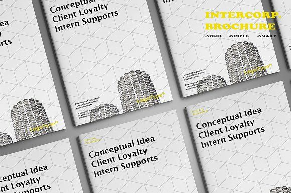 Intercorp Brochure Template by BizzCreatives on @creativemarket