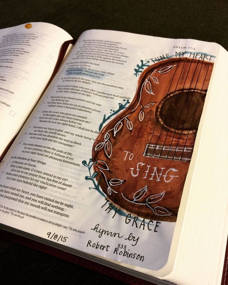 Tune my heart to sing thy grace..