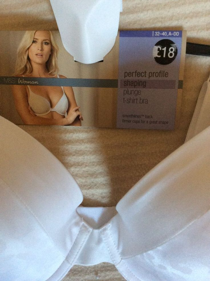 M&S Woman PERFECT PROFILE SHAPING Plunge T-shirt BRA UK38DD BNWT RRP£18 | eBay
