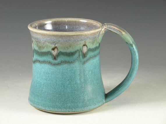 Coffee Mug Cup large ceramic mug with large by Hodakapottery